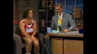 David Letterman Interviews then Pranks Richard Simmons (7-4-1994)