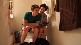 TWO GUYS ONE TOILET!! | David Dobrik