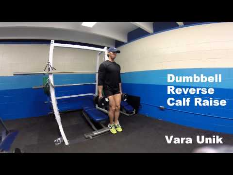 Dumbbell Reverse Calf Raise