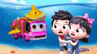 Baby Shark Car Version   Little Aaron had a Truck   Choo Choo Train #appMink Kids Song & Nursery
