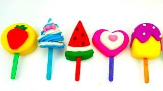 Пластилин для детей, Лепим забавное мороженое