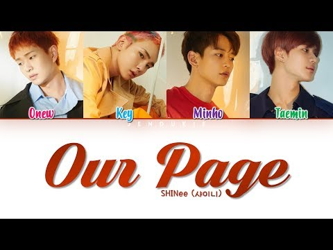 SHINee (샤이니)  '네가 남겨둔 말 (Our Page)' Lyrics (Color Coded Han|Rom|Eng)
