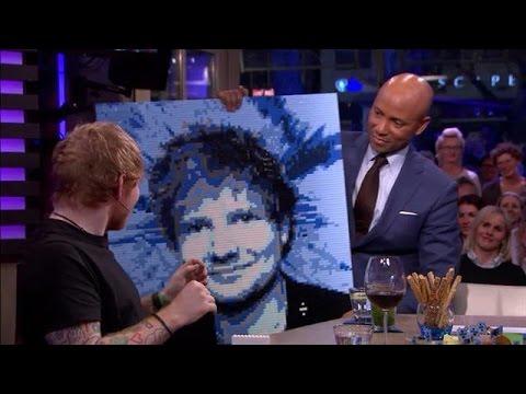 Ed Sheeran portret van lego - RTL LATE NIGHT