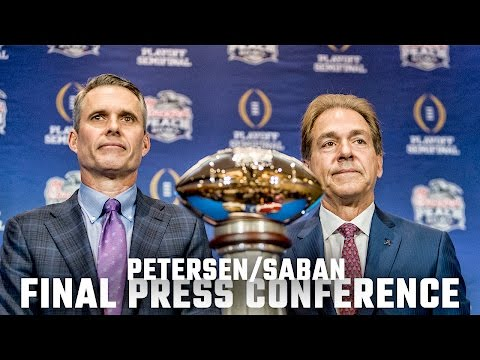 Saban and Petersen's final press conference before the Peach Bowl