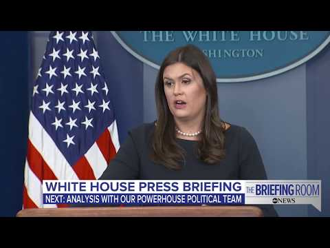 White House press briefing following President Donald Trump's remarks about NFL flag protests