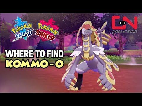 Where to find Kommo-O - Pokemon Sword and Shield Wild Kommo-O Location