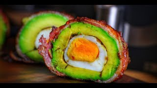 Smoked AVOCADO With EGG And BACON - English KETO-Recipe - 0815BBQ