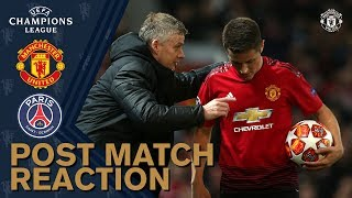 Solskjaer Amp Herrera Reflect On Psg Defeat Manchester United 0 2 Psg Uefa Champions League