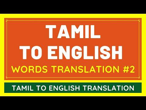 Tamil To English Google Translation BASIC WORDS #2 | Translate Tamil Language To English
