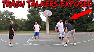 TRASH TALKER EXPOSED! INTENSE 2 on 2 Basketball Game With CAM PIZZO!