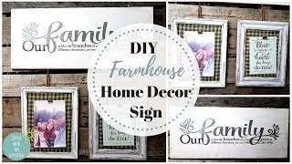FARMHOUSE HOME DECOR SIGN PICTURE FRAME | DOLLAR TREE | DECORATING | CRAFTS | WOOD