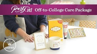 Graduation Gift Idea: Off-to-College Care Package | Party 101