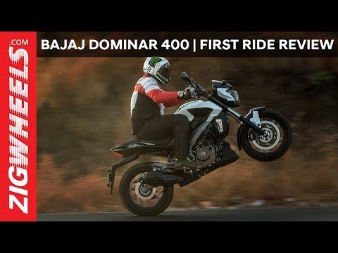 Bajaj Dominar 400   First Ride Review   ZigWheels