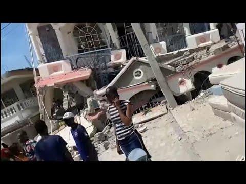Viele Opfer befürchtet: Beben der Stärke 7,2 in Haiti   Bildquelle: https://t1p.de/1jt7 © YouTube   Bilder sind in der Regel urheberrechtlich geschützt