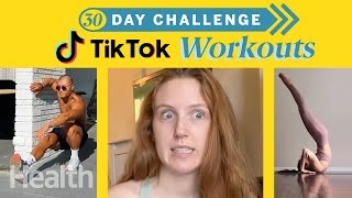 Working Out For 30 Days Using Only TikTok Workout Videos | Can I Do It? | Health