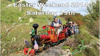 preview picture of video 'Keirunga Park Rail Easter Weekend Saturday 19 April 2014 HD'