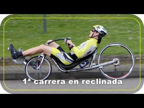 1ª carrera en bici reclinada (con final inesperado)