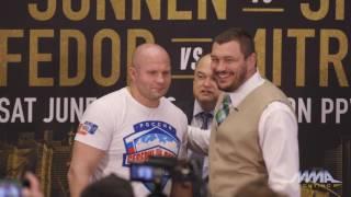 Fedor Emelianenko vs. Matt Mitrione Bellator 180 Staredown