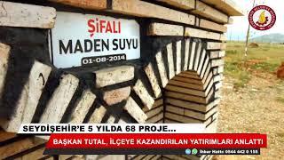 Seydişehir'e 5 yılda 68 proje...