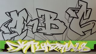 How To Draw Graffiti Wildstyle - Graffiti Letters ABC Step By Step