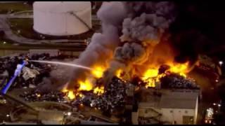 Massive fire at the Port of Tampa. Dec 2. 2016.