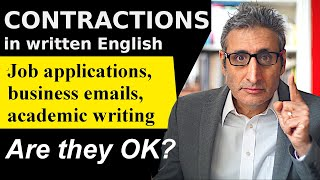 Is it OK to Use CONTRACTIONS in WRITTEN English?