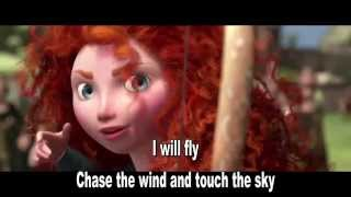 Disney Pixars Brave - Touch the sky - Sing along lyrics with Merida (Julie Fowlis)
