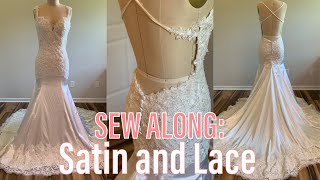 Sew Along: Satin And Lace Wedding Dress