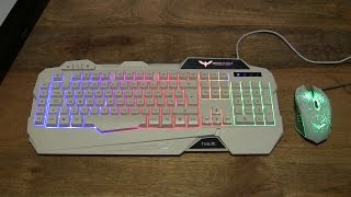 Havit Gaming Keyboard and Mouse Combo Set with Adjustable LED Backlight