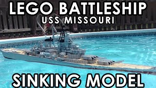 Sinking LEGO Battleship 【USS Missouri】7 foot Model