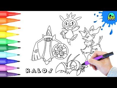 kalos region pokemon coloring pages - photo#44