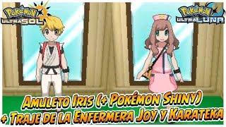 Amuleto Iris (+ Pokémon Shiny) + Traje De La Enfermera Joy Y Karateka - Pokémon Ultrasol Y Ultraluna