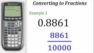 TI Calculator Tutorial: Converting Decimals to Fractions