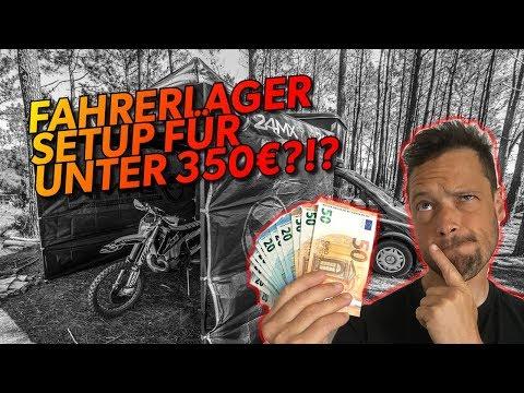 Das perfekte FAHRERLAGER SETUP für unter 350 Euro, geht das?!?
