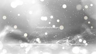 Silver Background Particles Loops | White Bokeh background video | silver sparkles bokeh background