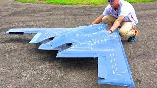 XXXL B-2 SPIRIT STEALTH BOMBER RC TURBINE JET FLIGHT DEMONSTRATION