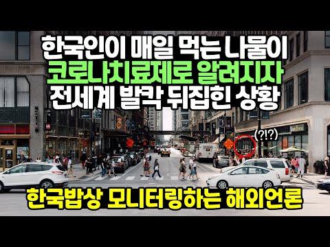 한국인이 매일 먹는 나물이 코로나 치료제로 알려지자 전세계 발칵 뒤집힌 상황