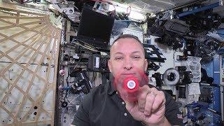 Fidget spinner spinning in space!
