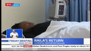 Chaos mark Raila Odinga's grand return as five people left dead