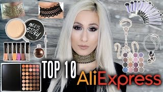 TOP 10 ALIEXPRESS MAKEUP & BEAUTY FINDS! 👍👍👍 // DYNA