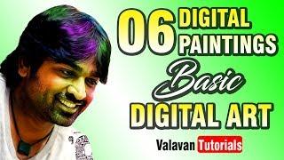 #06 - Digital Painting | Vijay Sethupathi | Valavan Tutorials