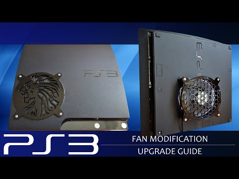 How to fit install fan mod for ps3 slim playstation 3 and stop YLOD