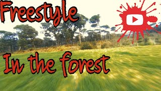 FPV Freestyle in the forest with Reelsteady go