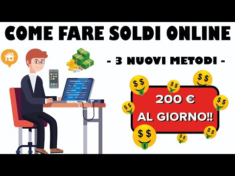 Come fare soldi velocemente in linea