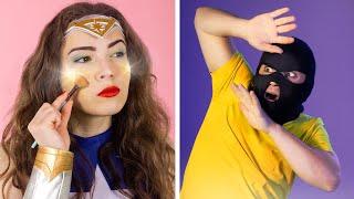 8 DIY Weird Makeup Ideas / Superhero Makeup