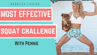 5 Minute SQUAT CHALLENGE Workout For Instant BUTT LIFT! | Rebecca Louise
