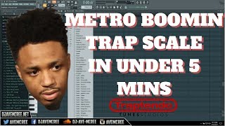 Metro Boomin | TRAP SCALE Explained | IN UNDER 5 MINS | FL Studio