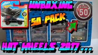 UNBOXING HOT WHEELS 50 PACK 2017 - TARJETA CORTA