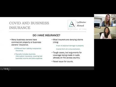 Covid 19 Business Insurance Coverage