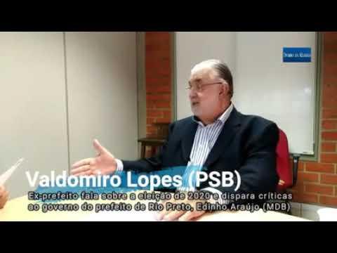 Valdomiro adota discurso de candidato ao criticar governo Edinho Araújo durante entrevista ao Diário